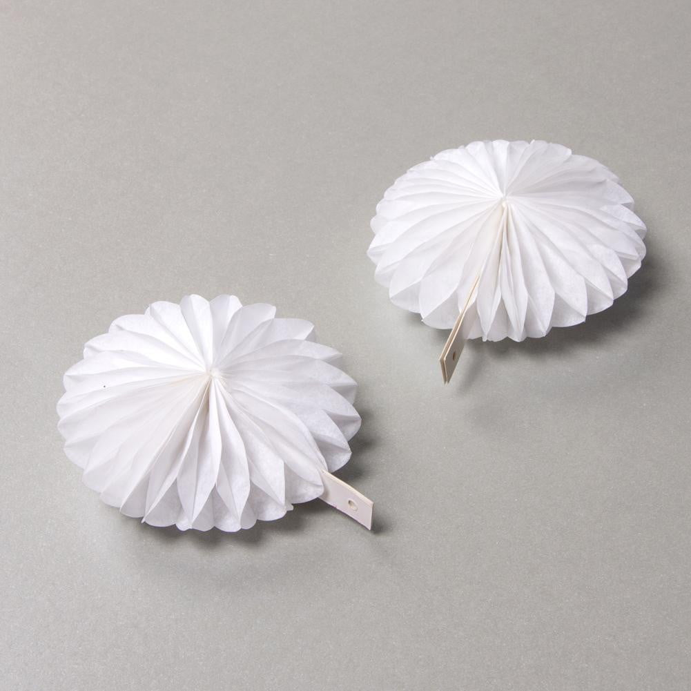 White Paper Fan Pinwheel Kit - Sunbeauty
