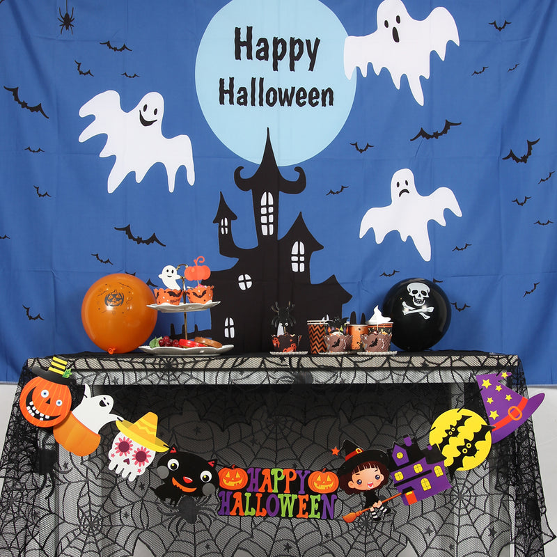 Halloween Theme Pictorial Cloth Seamless Customized Photography Backdrop Background - Sunbeauty