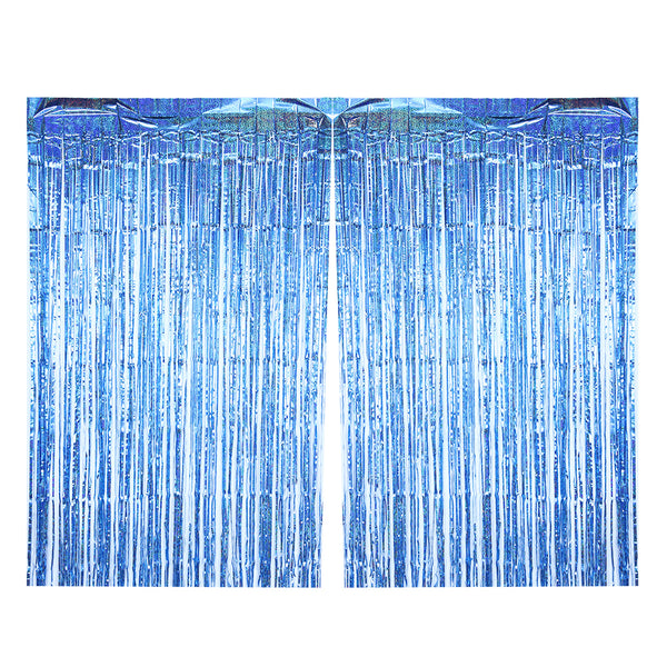 Wholesale Party Decoration Hanging Backdrop Fringe Metallic Tinsel Laser Foil Curtain - Sunbeauty