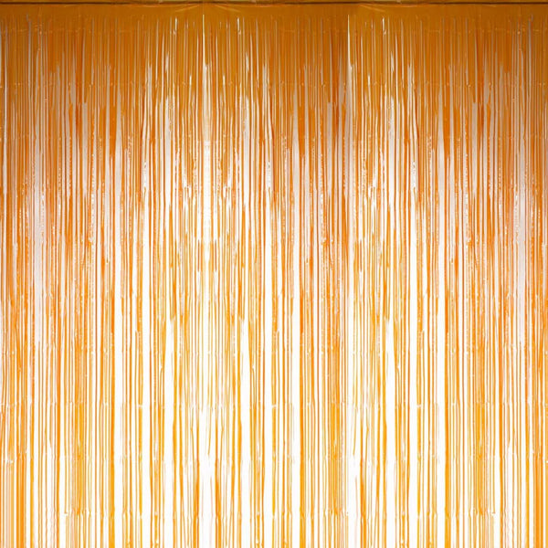 Orange Foil Curtains - Sunbeauty