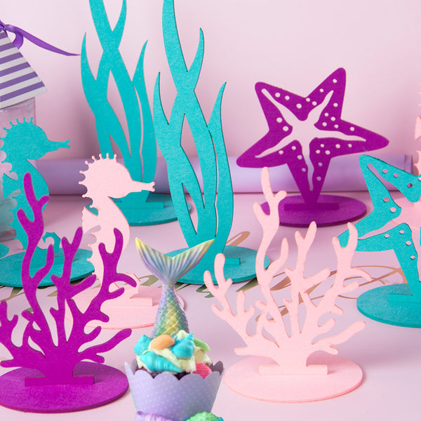 Under The Sea Mermaid Party Felt Centerpiece-Seaweed - Sunbeauty