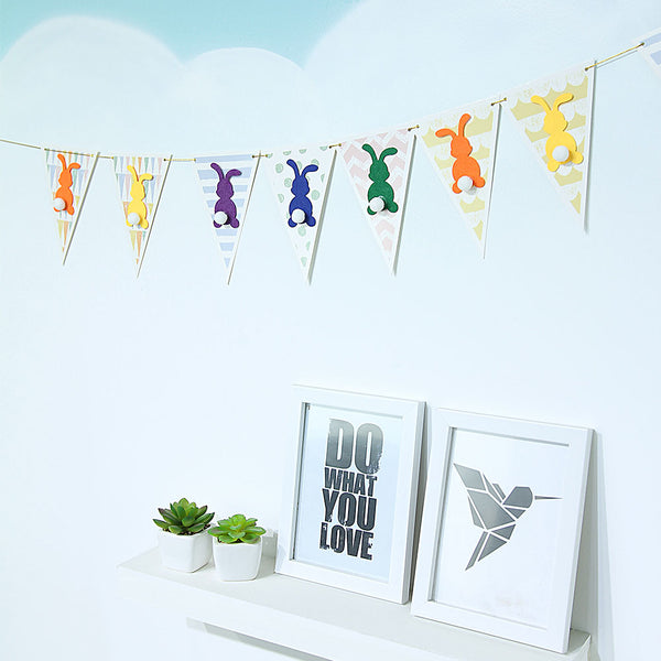 Happy Easter 2020 Spring Themed Party Hanging Banner - Sunbeauty