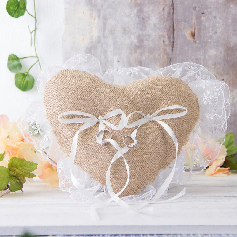 Heart Wedding Ring Pillow - cnsunbeauty