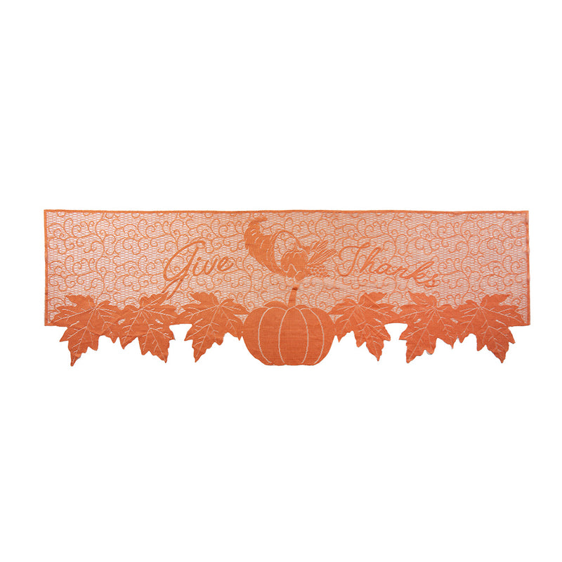 Thanksgiving Day Fireplace Decoration Lace Mantle Scarf Cover - Sunbeauty