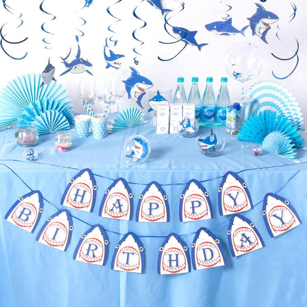 Shark Birthday Banner - Sunbeauty