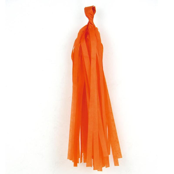 5Pcs Orange Green Tissue Paper Tassel - Sunbeauty