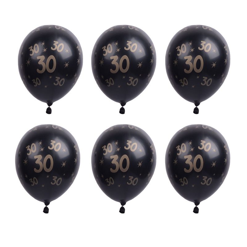 30/50th Birthday Decorations Printed Latex Balloons - Sunbeauty
