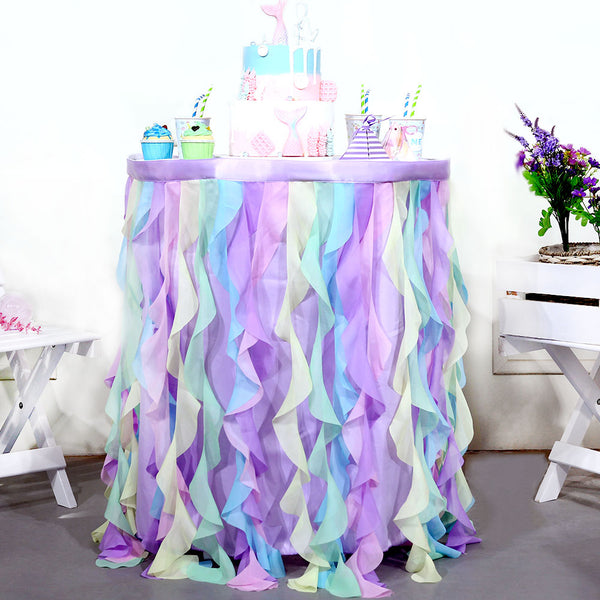 Birthday Party Table Decoation Tulle Table Skirt - Sunbeauty