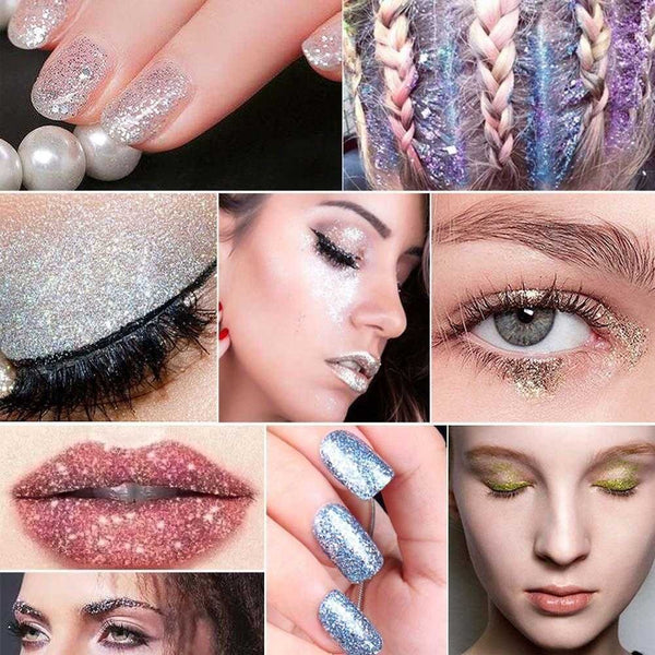 Multi Purpose Glitter Powder for Cards Flowers Cosmetic Eyeshadow Nails - Sunbeauty