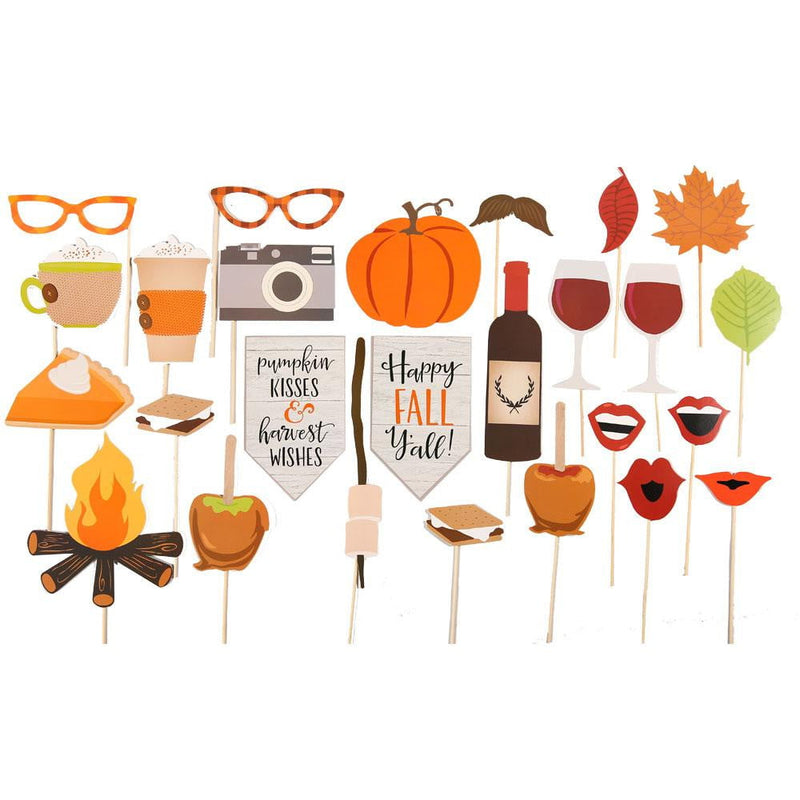 Thanksgiving Day Photo Booth Props(26Pcs)