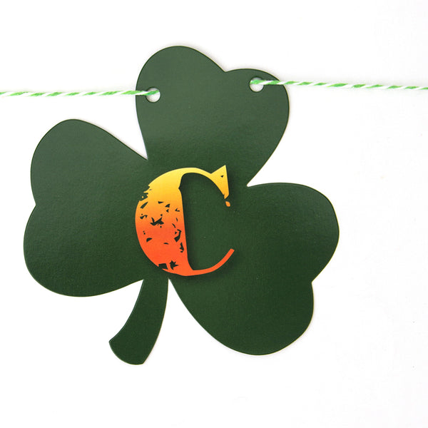 St.Patricks Lucky Clover Garland Party Decoration Banner - Sunbeauty