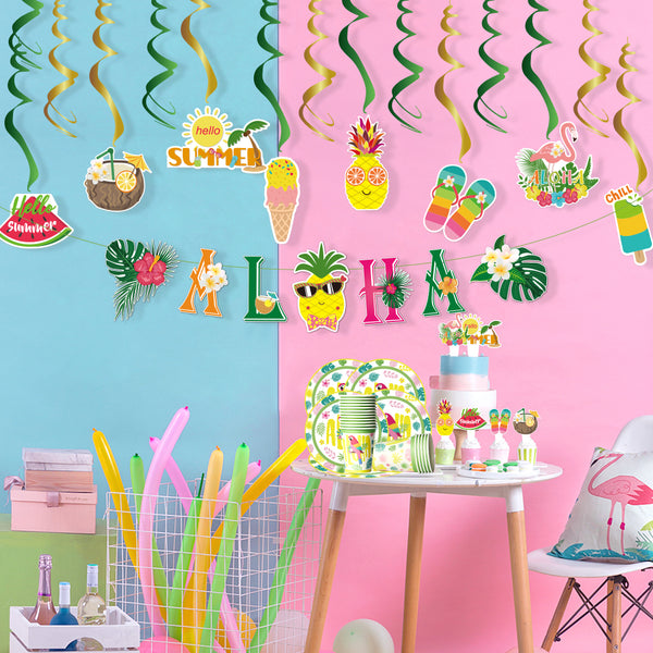 Tropical Theme Summer Beach Pool Party Decorations