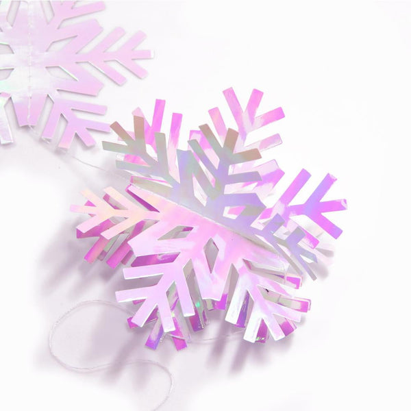 Christmas color snowflake paper garland - cnsunbeauty