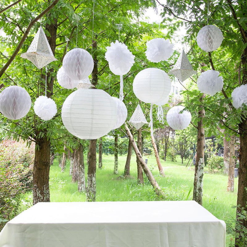 $10.99-FreeShipping-Dinner en Blanc Garden Party White Decoration Set(13Pcs) - Sunbeauty