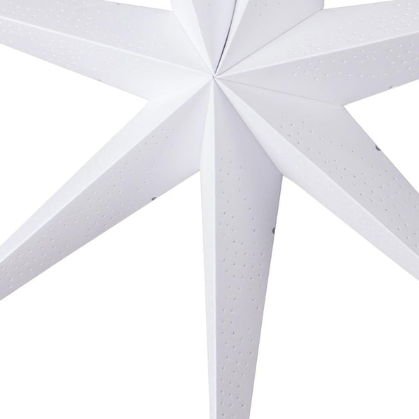 60cm White Pinhole 7- Pointed Paper Star - Sunbeauty