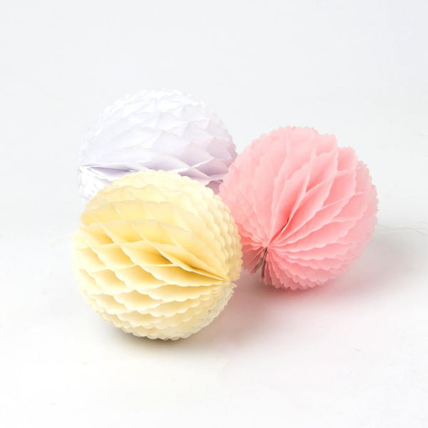 Pink Lace Honeycomb Ball - Sunbeauty