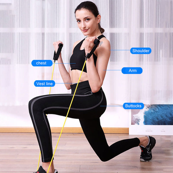 11 Pcs Fitness Resistance Bands-FreeShipping - Sunbeauty