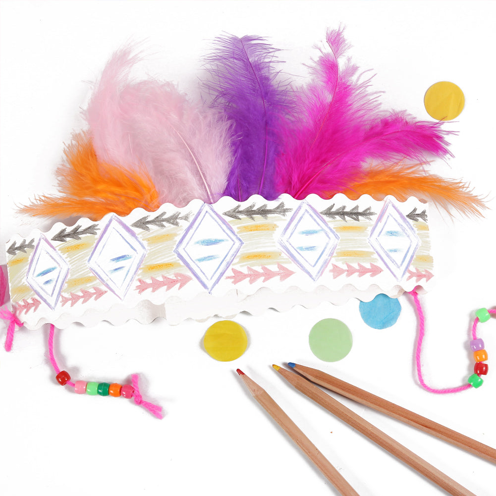 DIY Indian Feather Headband Party Hat - Sunbeauty