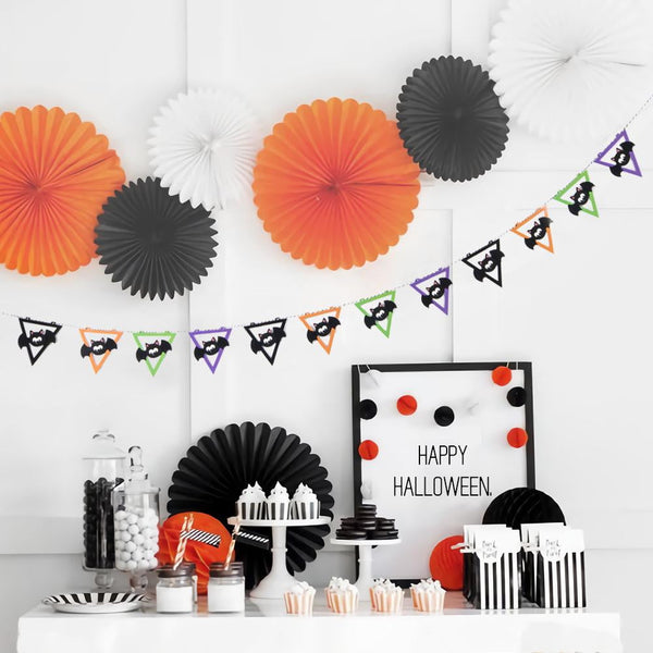 Halloween Bat Triangle Flag Garland - Sunbeauty