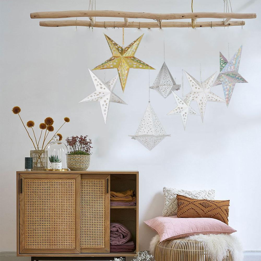 $9.99-Free Shipping: Christmas Party LED Paper Star Lanterns - Sunbeauty
