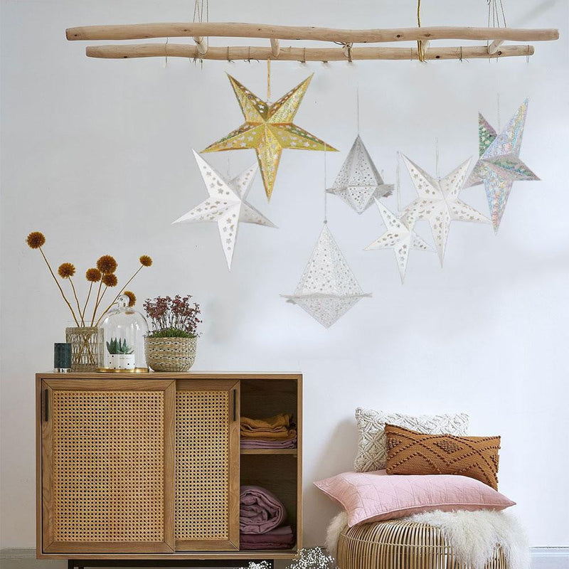 Christmas Party LED Paper Star Lanterns-50Pcs Free Shipping - cnsunbeauty