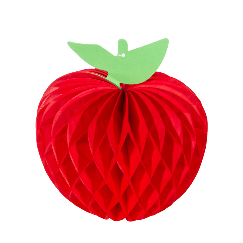 "4"" Red Apple Shaped Honeycombs Fruit Decoration - Sunbeauty"