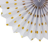 Bachelorette Holiday Celebration Party Gold Paper Fan Flower - Sunbeauty