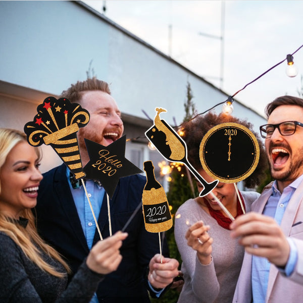 2020 New Year Eve Creative Photo Booth Selfie Props - Sunbeauty
