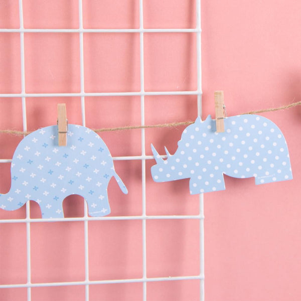 DIY Animal Wood Clip Ornaments Paper garland-50Pcs Free Shipping - Sunbeauty