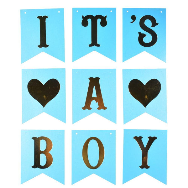 IT'S A BOY Banner - Sunbeauty