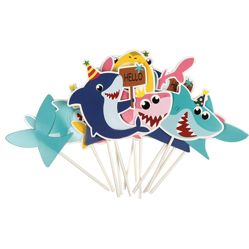 Kids Birthday Shark Cake Topper Kit - Sunbeauty