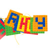 Building Block Happy Birthday Party Decorations Hanging Banner - Sunbeauty
