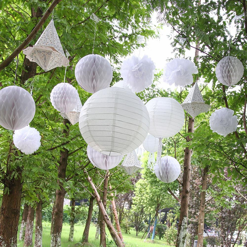Dinner en Blanc Garden Party White Decoration Set(13Pcs)-50Pcs Free Shipping - Sunbeauty