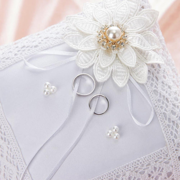 White Ring Pillow for Wedding - Sunbeauty