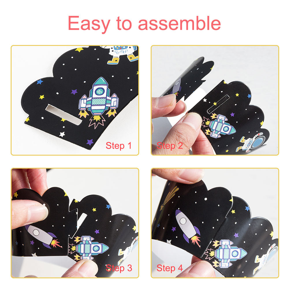Space Party Cupcake Decoration Rocket Astronaut Outer Space Birthday Cake Decoration - Sunbeauty