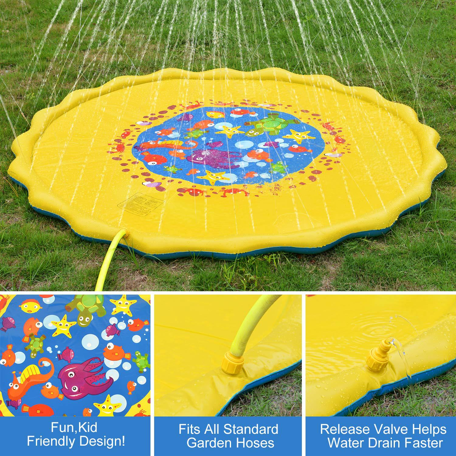 FreeShipping-Inflatable Splash Pad Sprinkler for Kids - cnsunbeauty