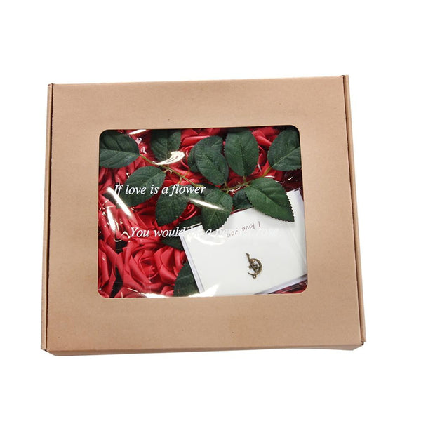 Bride Holding Flowers Roses Wedding Decoration Gift Box - Sunbeauty