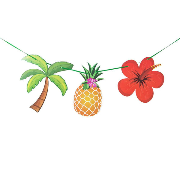 Aloha Hawaii Summer Party Flamingo Garland - Sunbeauty