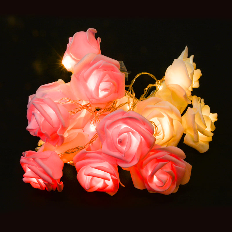 Valentine's Wedding Party Flower Rose LED String Lights-50Pcs Free Shipping - Sunbeauty