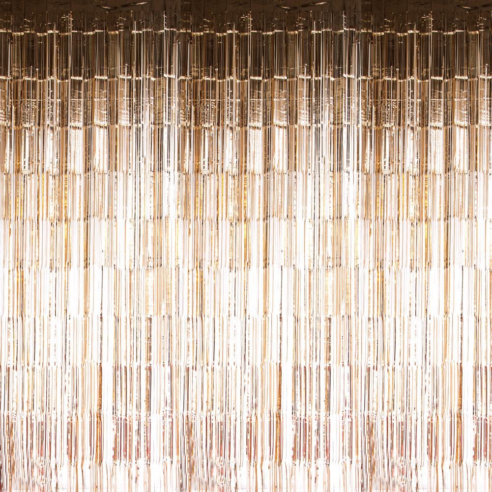 Rose Gold Foil Curtains - Sunbeauty