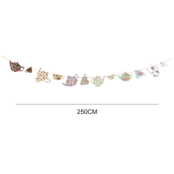 Tea Party Decorations Teapots Tea Cup Banner - Sunbeauty