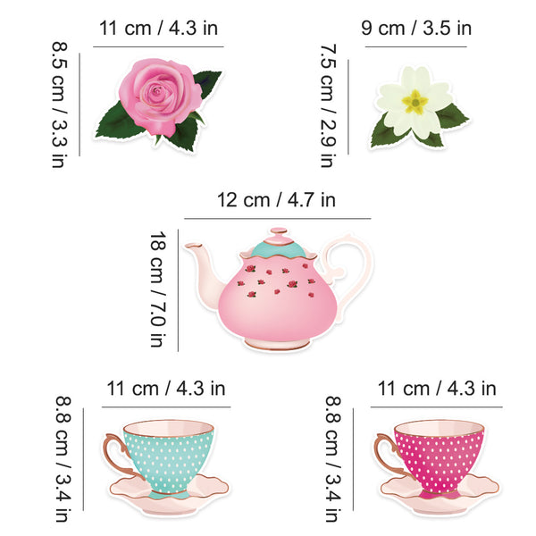 Floral Tea Party Hanging Decorations - Sunbeauty