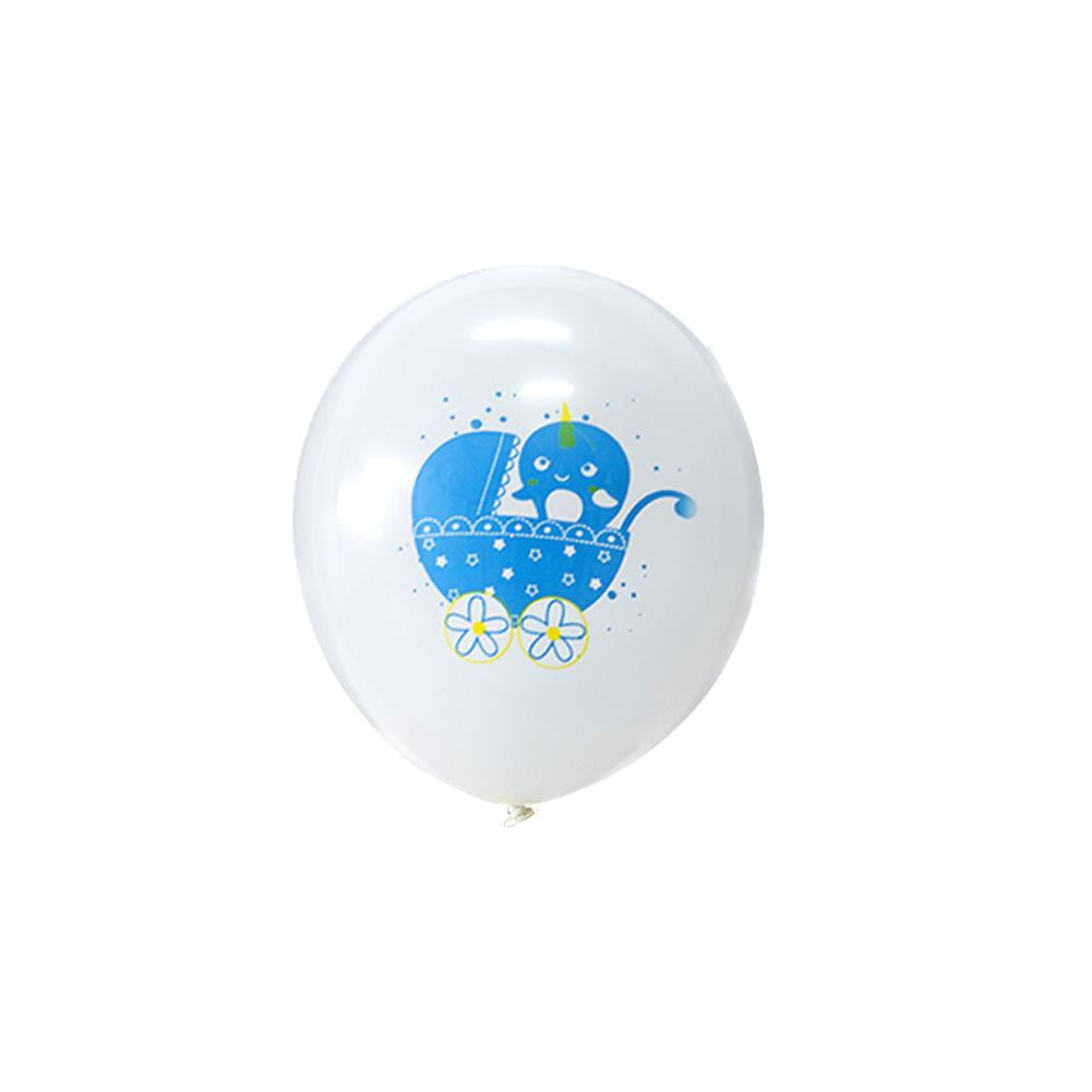 Narwhal Baby Shower Latex Balloon 9Pcs(Blue) - cnsunbeauty