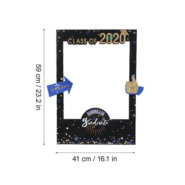 Class of 2020 Grad Party Selfie Picture Frame  Photo Booth Props - Sunbeauty