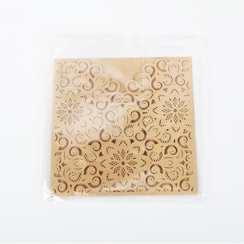 Wedding Square Invitation Cards(5Pcs) - Sunbeauty