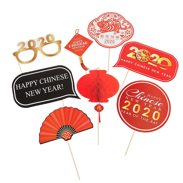 2020 Chinese Style New Year Spring Festival Photo Booth Props - Sunbeauty