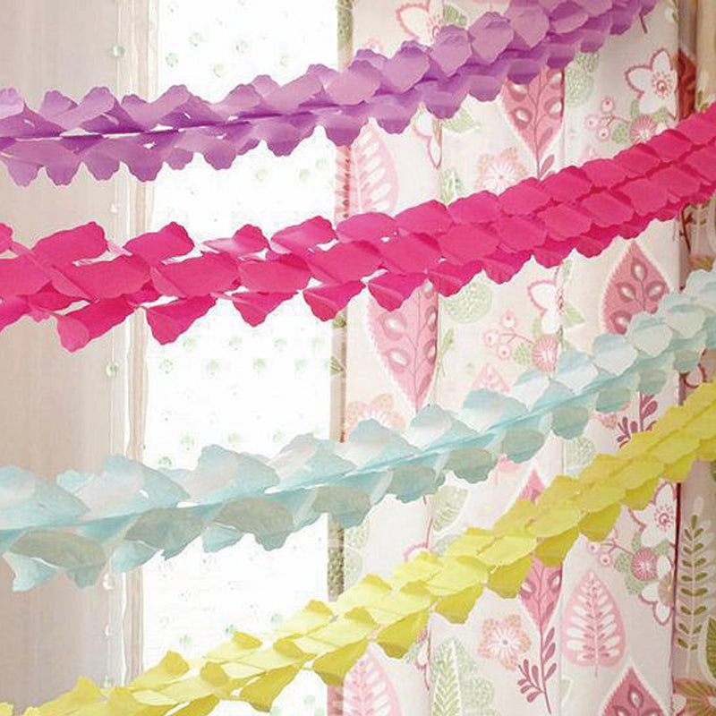 Hanging Four-Leaf Tissue Paper Flower Garland-50Pcs Free Shipping - Sunbeauty