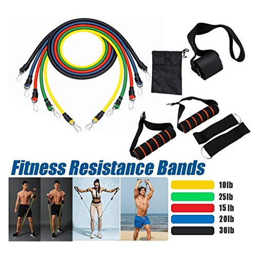 FreeShipping-11 Pcs Fitness Resistance Bands - Sunbeauty