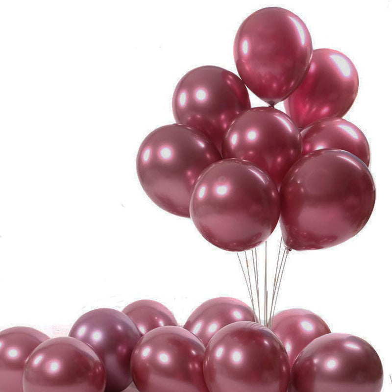 12 inch Shiny Chrome Metallic Party Balloons - Sunbeauty