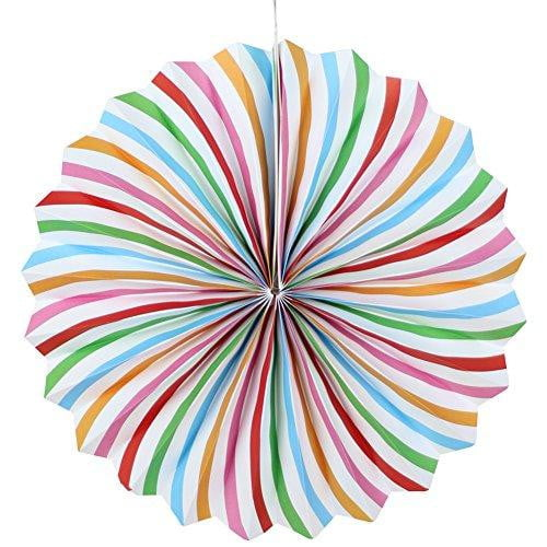 Polka Dot Folding Paper Fans Set(6Pcs) - Sunbeauty